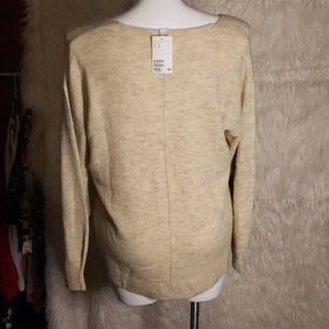 H&M Sweaters - NWT H&M Cream VNeck Sweater